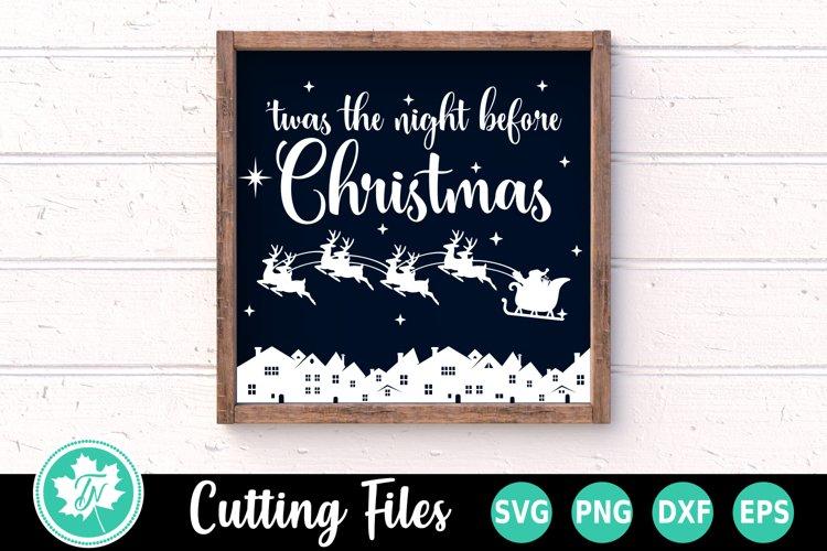 Christmas SVG | Santa SVG |Twas the Night Before Christmas example image 1