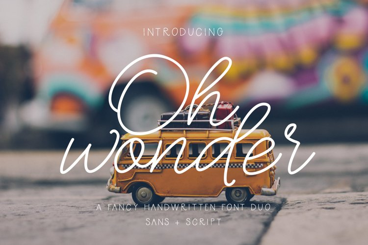 Oh Wonder Font Duo example image 1