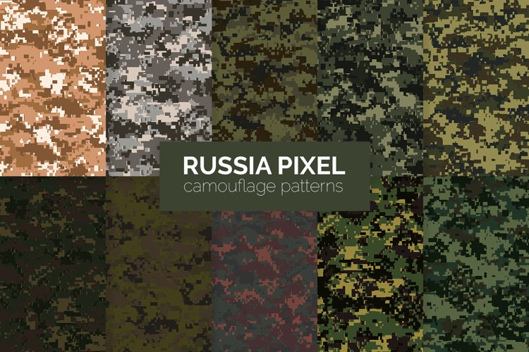 Russia Pixel Camouflage Patterns example image 1