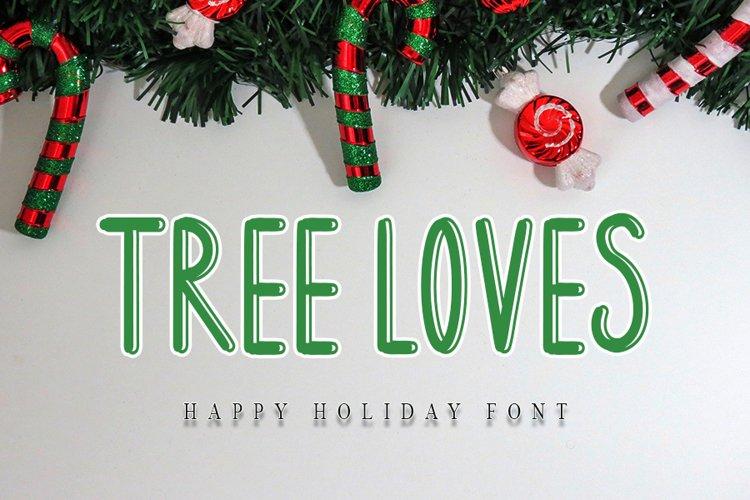 Tree Loves - Happy Holiday Font example image 1