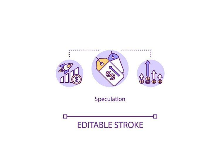 Speculation concept icon example image 1