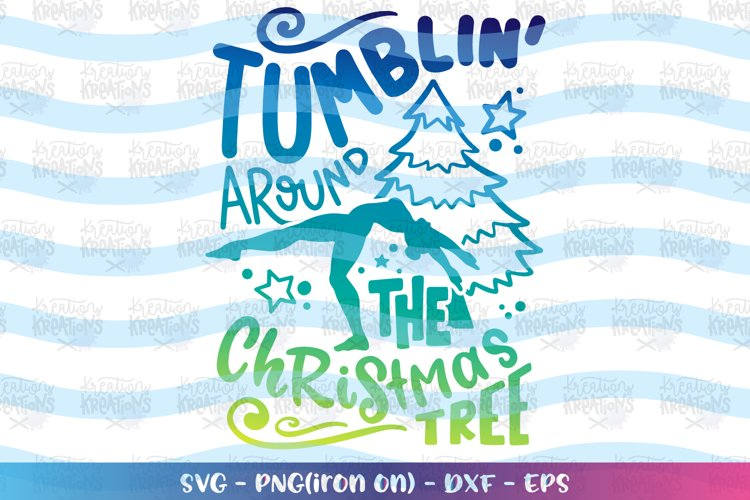 Christmas svg Tumblin' Cheer Gymnastics Christmas Tree example image 1