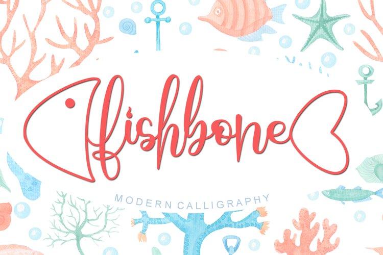 Fishbone - Modern Calligraphy Font example image 1