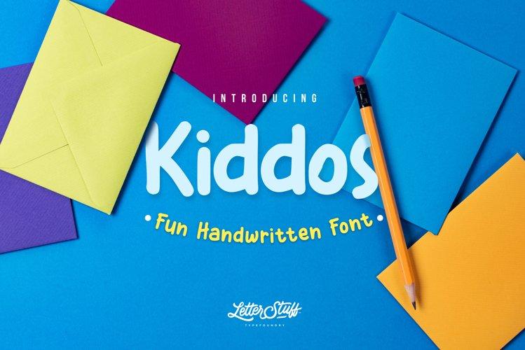 Kiddos Fun Handwritten font example image 1