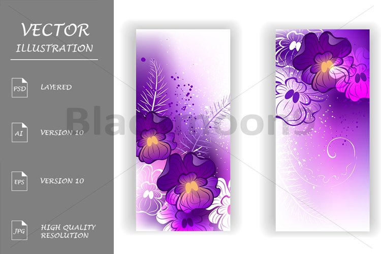 Banner with Bright Violets example image 1