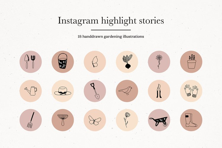 Instagram Gardening Story Highlights Icons Covers example image 1
