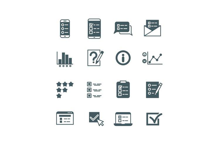 Quiz and test list, voting button, survey, questionnaire vec example image 1