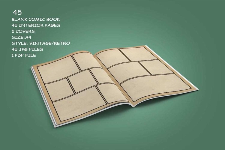 Blank Comic Book Interior Pages & Covers JPG-PDF-PSD-PNG example 5