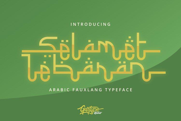 Selamet Lebaran - Arabic Fauxlang Font // Web Font example image 1