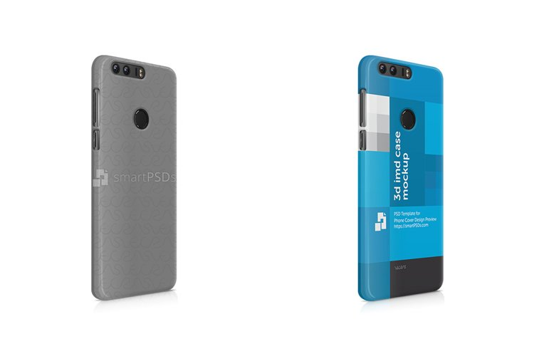 Huawei Honor 8 3d IMD Mobile Case mockup- Right view 2016 example image 1