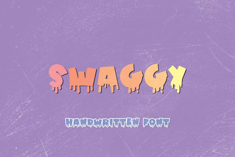 Swaggy - A Spooky Handwritten Display Font example image 1