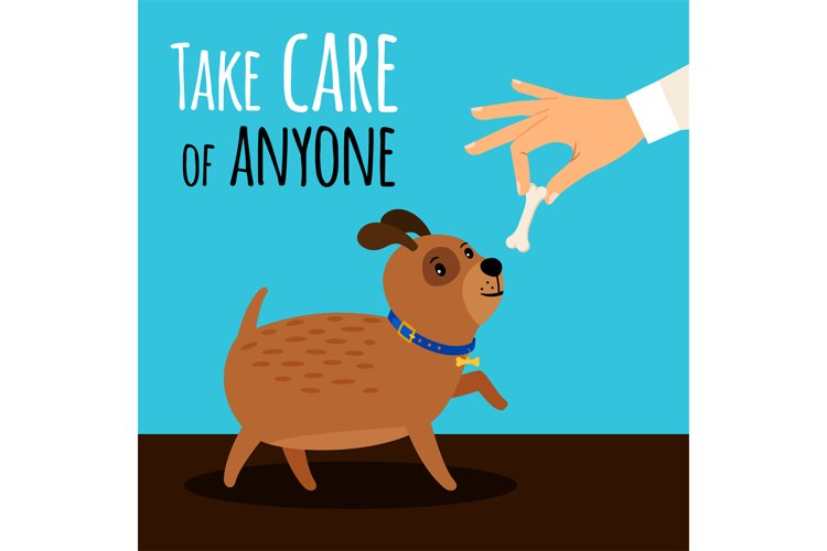 Hand offers dog bone example image 1