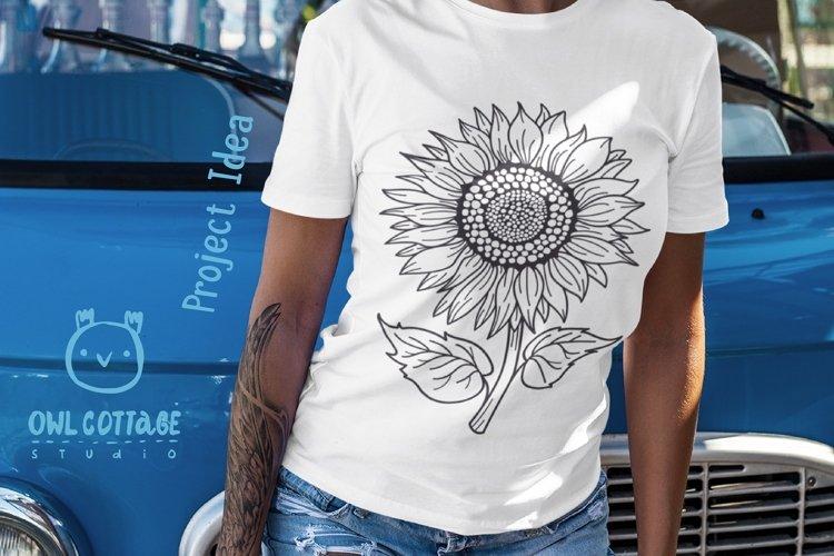 Sunflower Monograms svg, Sunflower mini bundle, Sunflower cl - Free Design of The Week Design2