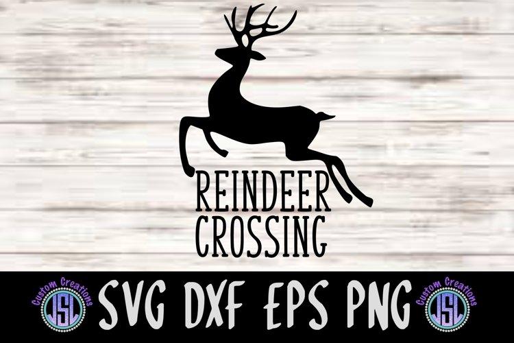 Reindeer Crossing Svg Dxf Eps Png Digital Cut File 380074 Svgs Design Bundles