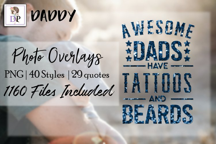 Daddy Bundle Photo Overlays Art Social Media Photobook example image 1