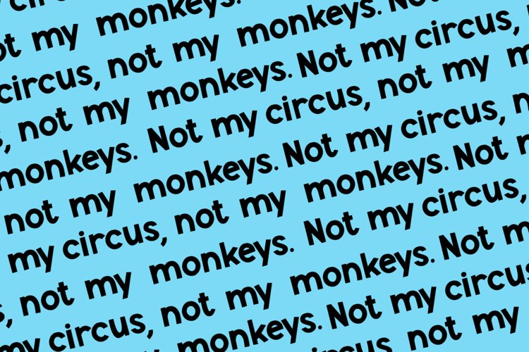 Monkey Mayhem - A fun and playful font example 3