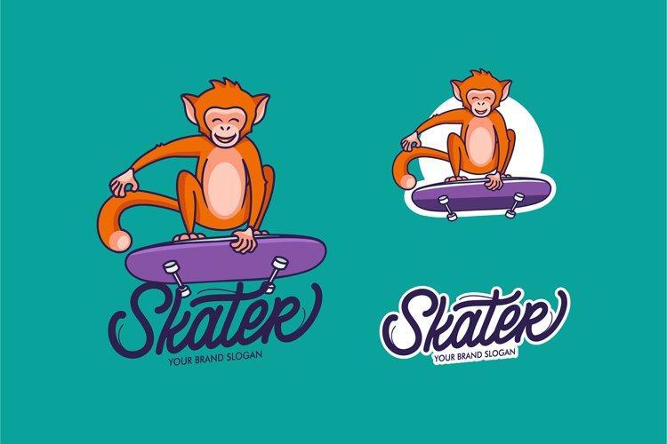 Funny Monkey, cartoon character example image 1