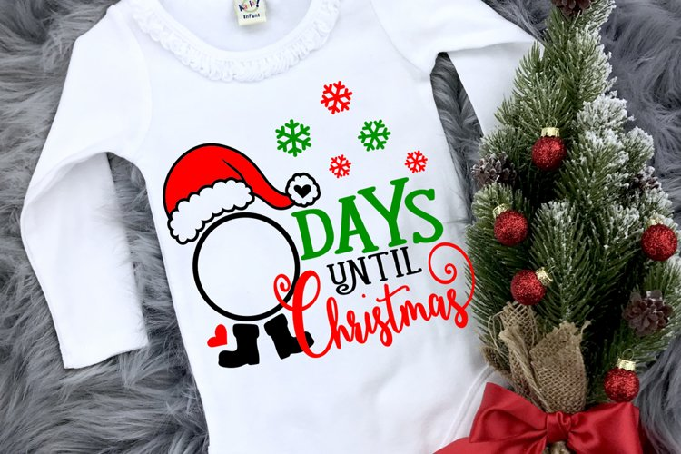 Christmas svg designs, Days until Christmas svg , Santa SVG, example image 1