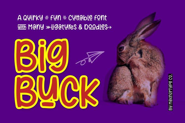 BigBuck - a Quirky Fun Cuttable Font