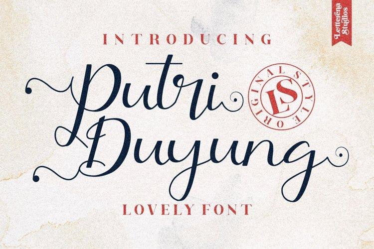 Putri Duyung - Beautiful Script Font example image 1