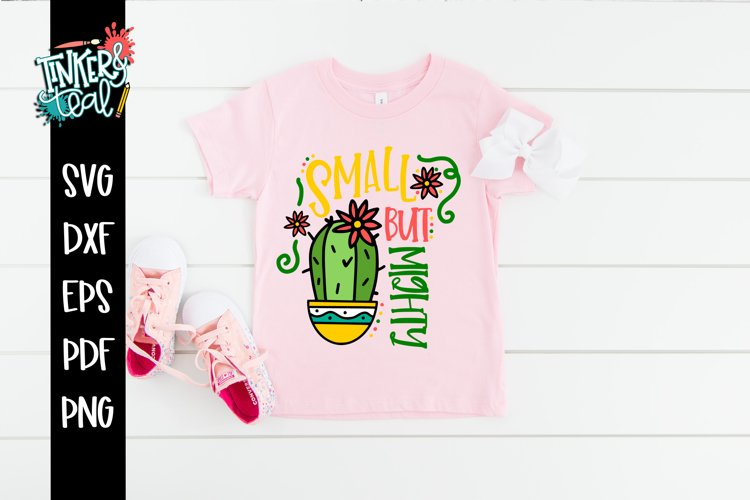 Small But Mighty Cactus SVG example image 1