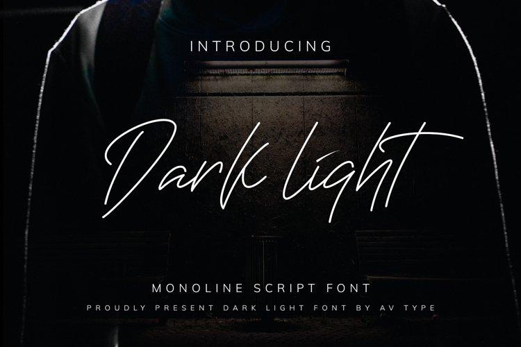 Darklight - Monoline Script example image 1