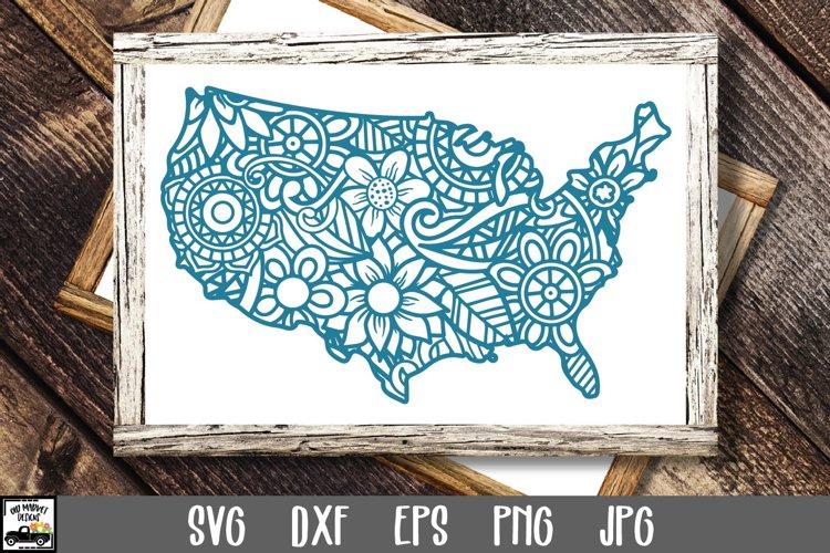 United States of America SVG File - USA Mandala SVG File example