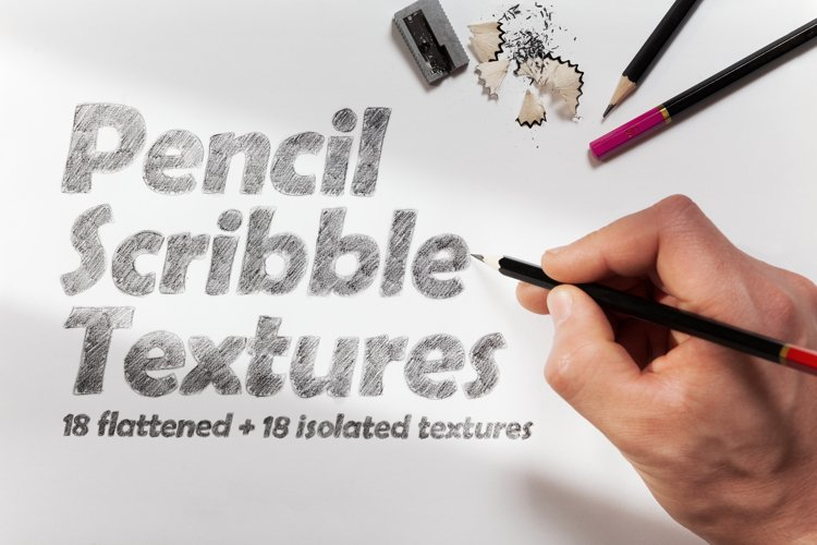 18 Pencil Scribble Textures example image 1