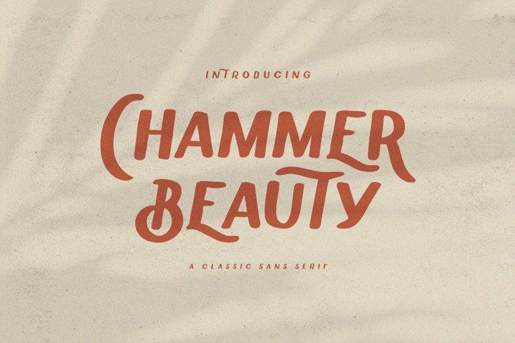 Chammer Beauty Classic Sans Serif