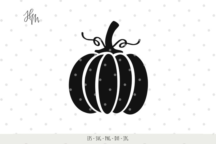 Pumpkin cut file SVG DXF EPS PNG JPG example image 1