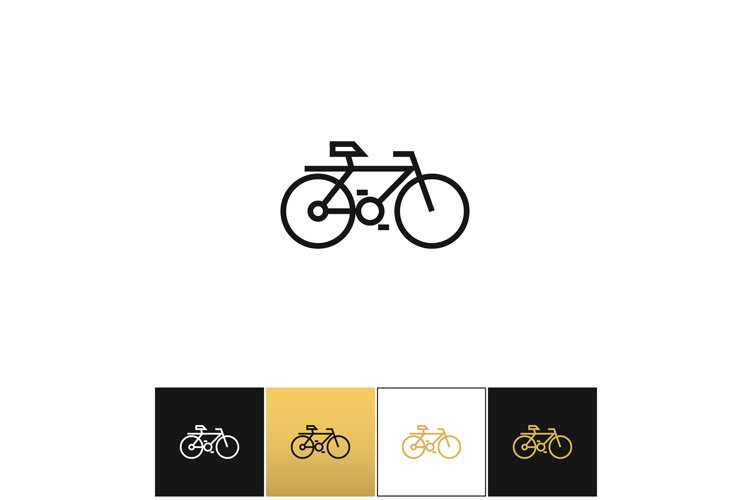 Bicycle line symbol or travel velocity bike outline vector i example image 1