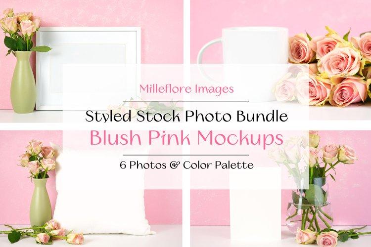 Mothers Day Mockups. Blush Pink Roses. Styled Photos Bundle