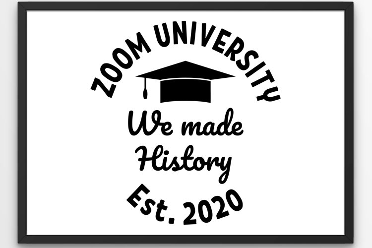 Graduation 2020 SVG, Graduated Zoom University 2020 SVG