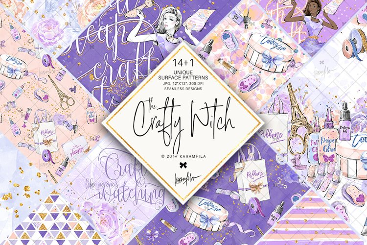 Crafting Digital Paper, Crafters Life Patterns