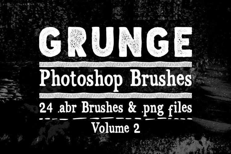 Photoshop Brushes - Grunge Texture Brushes Vol 2 example image 1