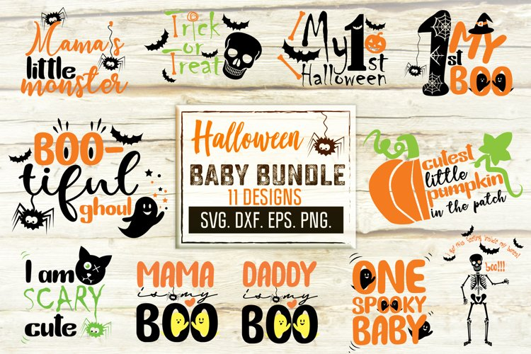 Halloween Svg Bundle. Baby Bib Halloween Designs. example image 1