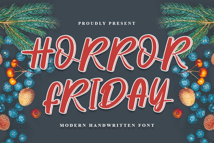 Horror Friday - Modern Handwritten Font example image 1
