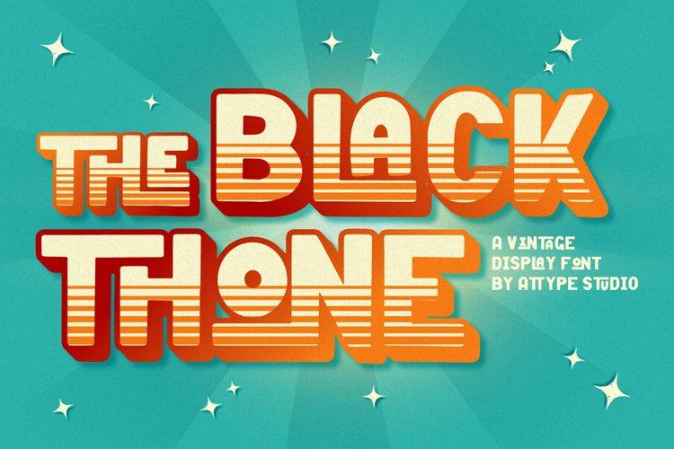 Black Thone - Vintage Display Font example image 1
