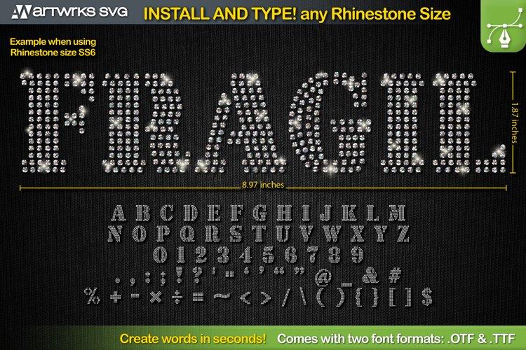 Editable Rhinestone template Seal TTF Font by Artworks SVG