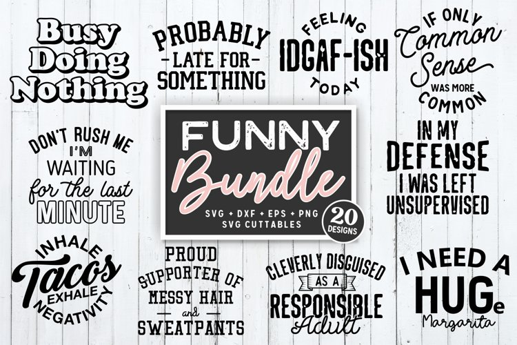 Funny Bundle | Funny SVG Cut Files example image 1