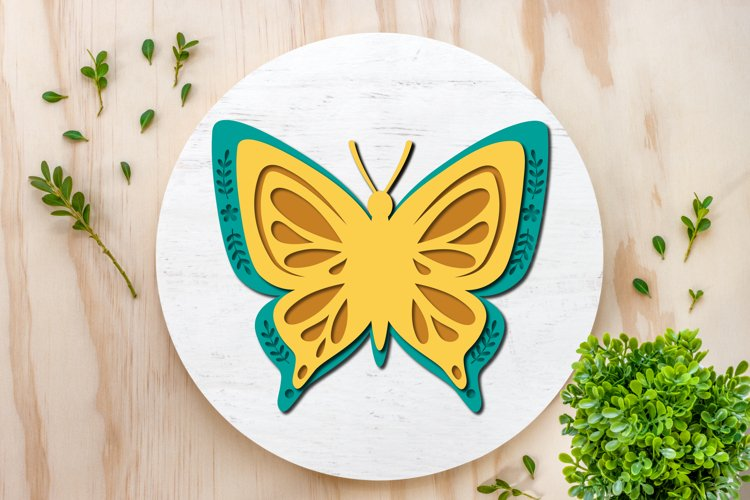 Butterfly SVGs 3d paper cut, layered paper cutting files example 2