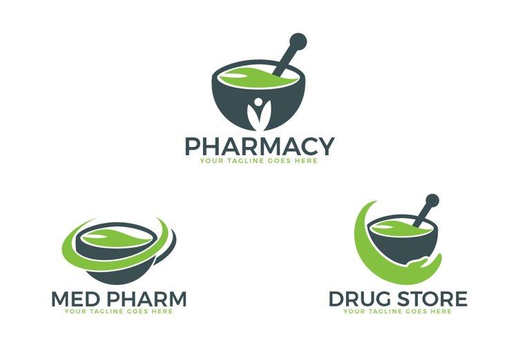 Pharmacy medical logo design set. example image 1