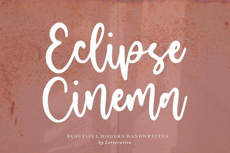 Eclipse Cinema Beautiful Modern Handwritten Font example image 1
