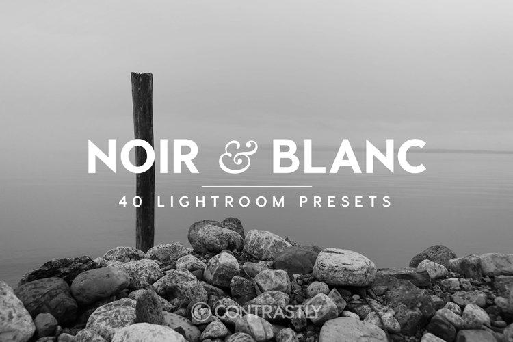 Noir & Blanc Lightroom Presets example image 1