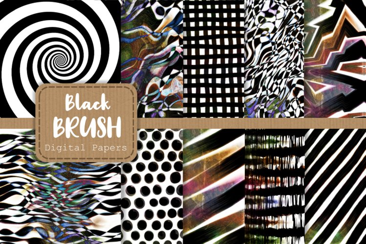 Abstract Black Brush Stroke Background Patterns example image 1
