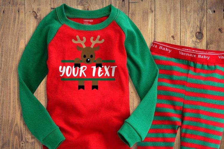 Peeking Christmas Reindeer Split SVG File
