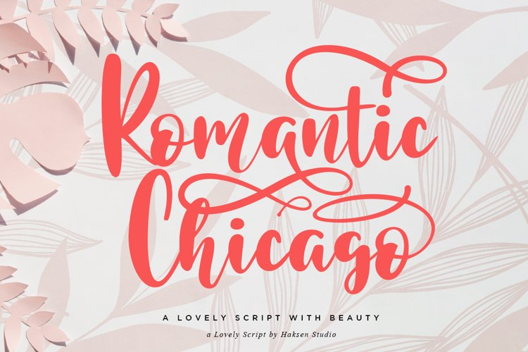 Romantic Chicago a Lovely Handwritten Script example image 1