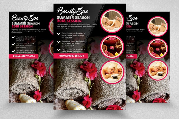 Spa & Body Massage Centre Flyer example image 1