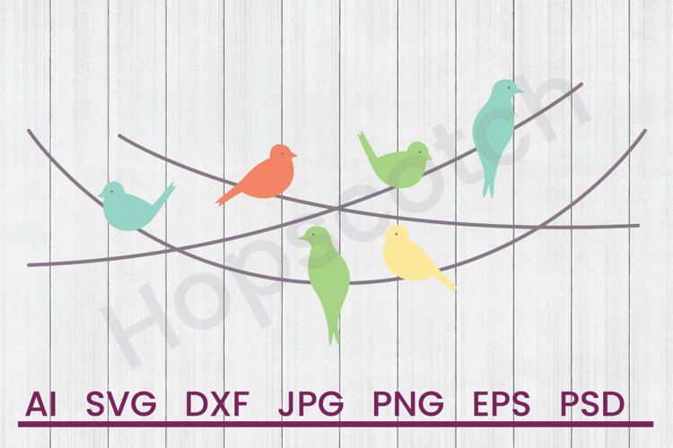 Birds on Pole SVG, DXF File, Cuttatable File example image 1
