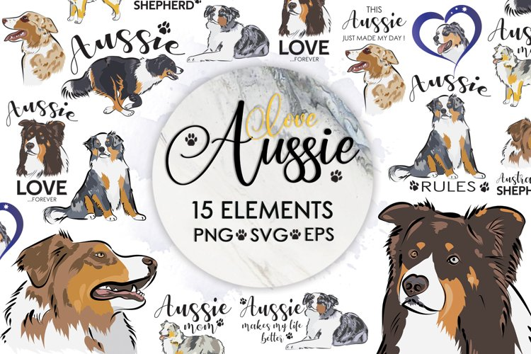 Dog Svg, Dog Bundle, Australian Shepherd Svg, Dog Mom example image 1